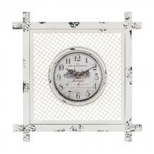 Sterling Industries 171-013 - Vintage Style Clock In Square Mesh