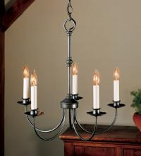Hubbardton Forge 107050-03-CTO - Simple Lines 5 Arm Chandelier