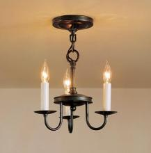 Hubbardton Forge 122130-03-CTO - Simple Lines 3 Arm Chandelier